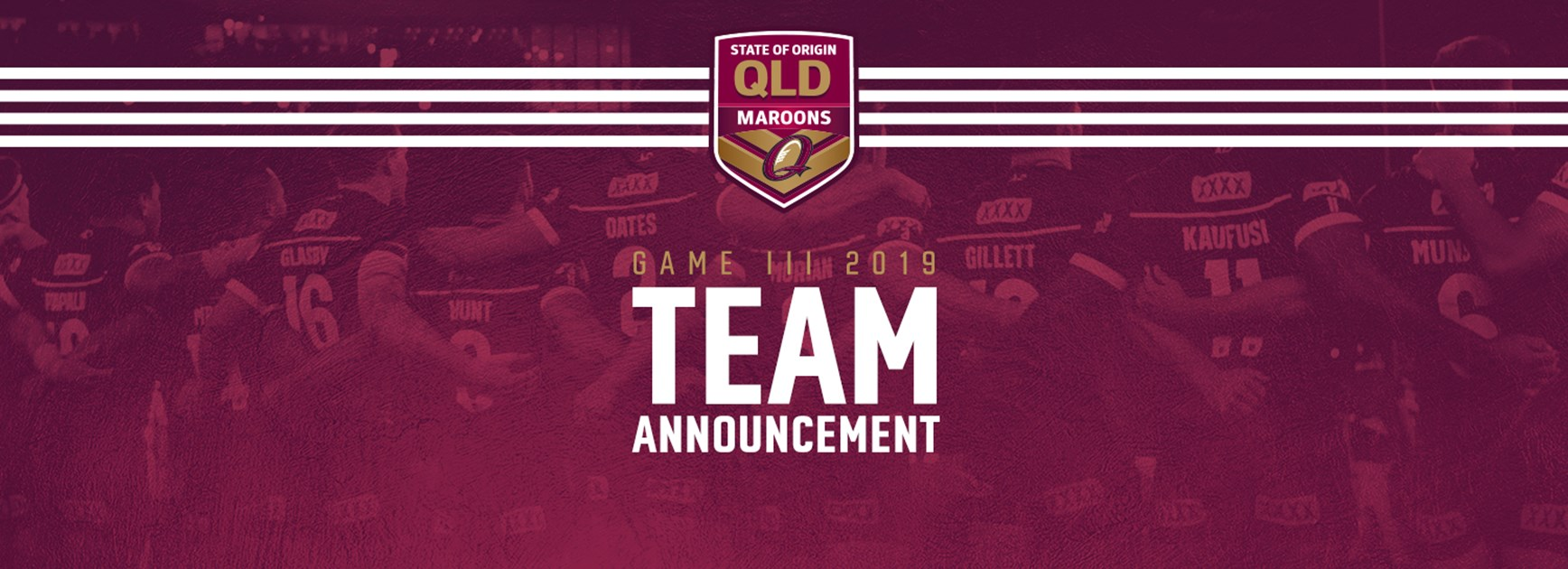 Queensland Maroons Game III team
