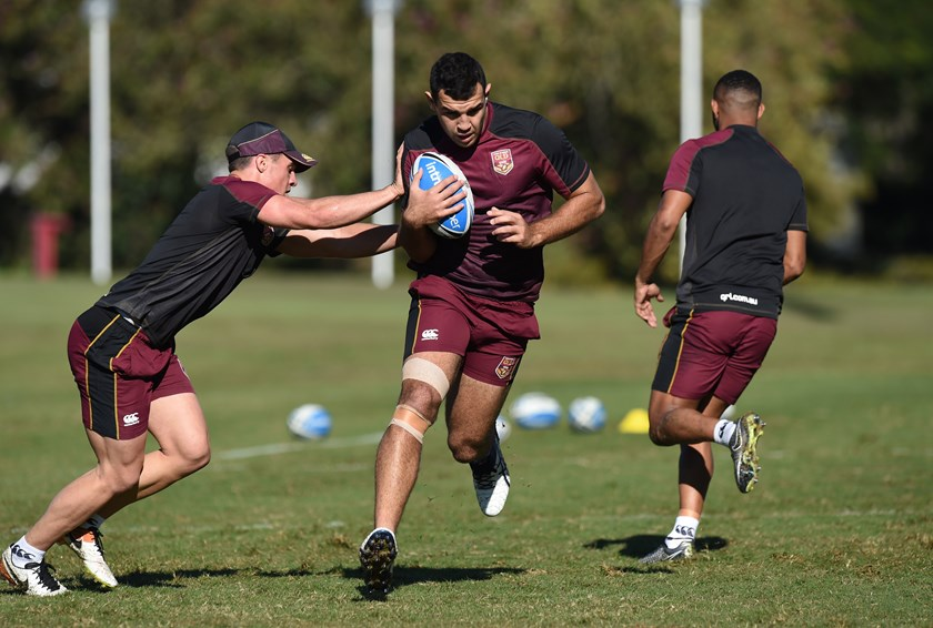 Josh Kerr training with the Queensland Under 20 side in 2016. Photo: NRL Images