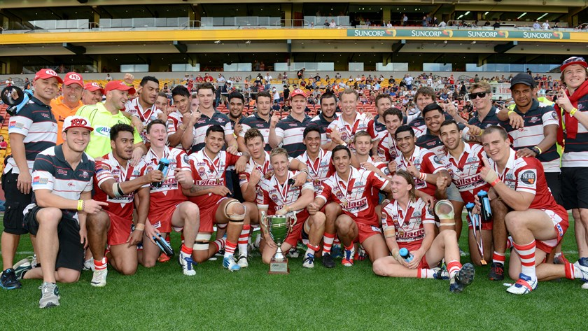 The FOGS Colts grand final winning Redcliffe Dolphins team in 2014. Photo: QRL