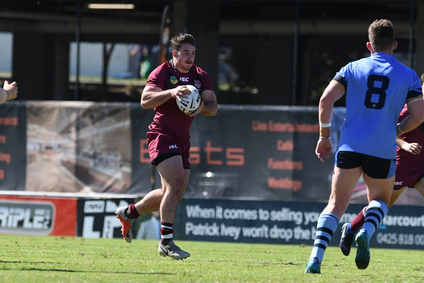 In action with the Queensland University team last year. Photo: Vanessa Hafner / QRL