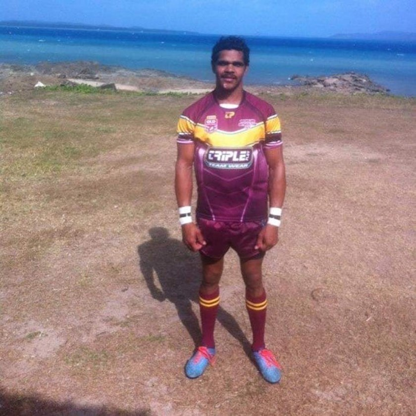 Michael Purcell scored three tries and was player of the match for the Outback at Thursday Island in 2015.