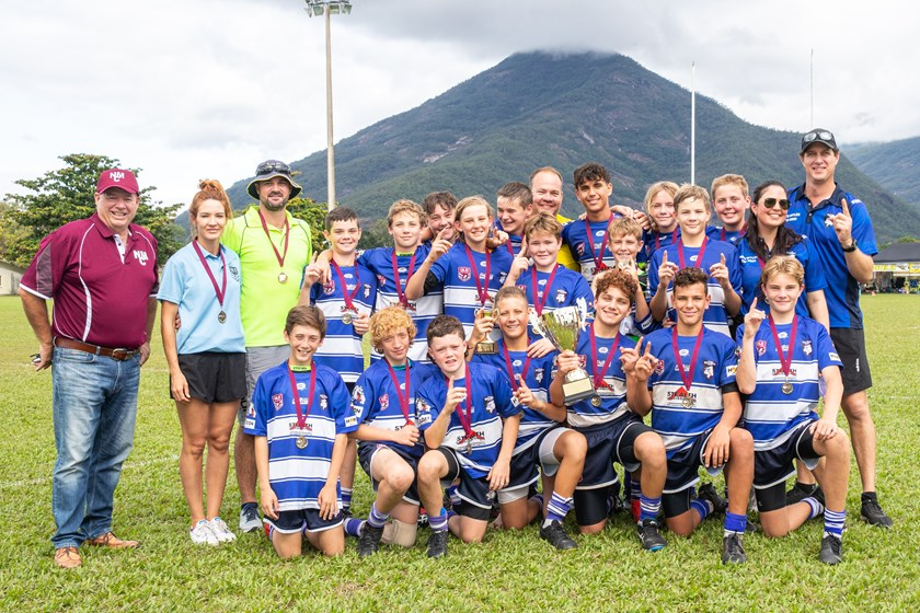The 2021 Nate Myles Cup champions - Mackay Brothers Bulldogs Blue.