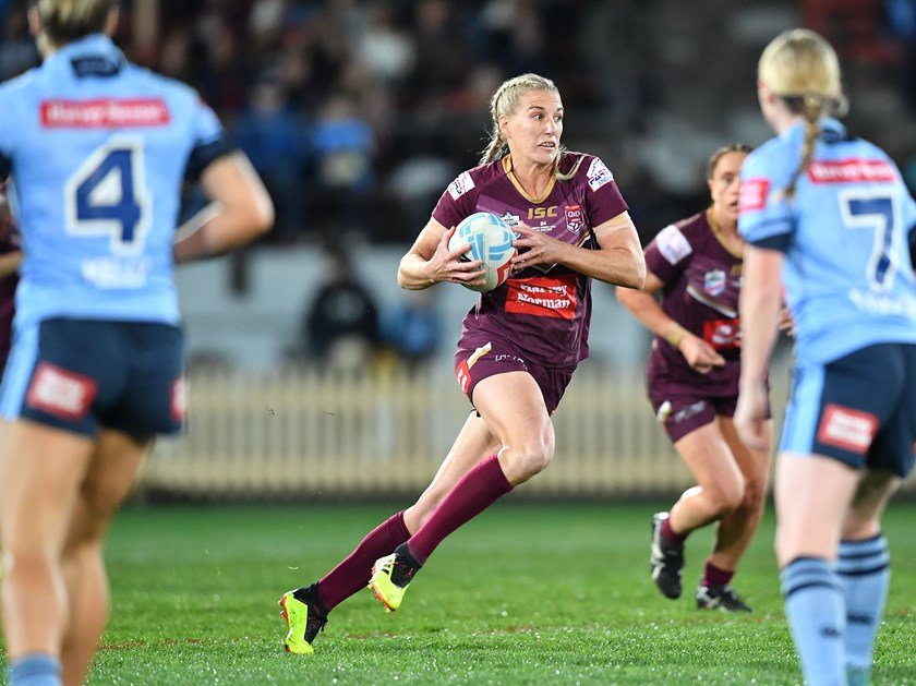 Ali Brigginshaw in action for Queensland. Photo: QRL Media