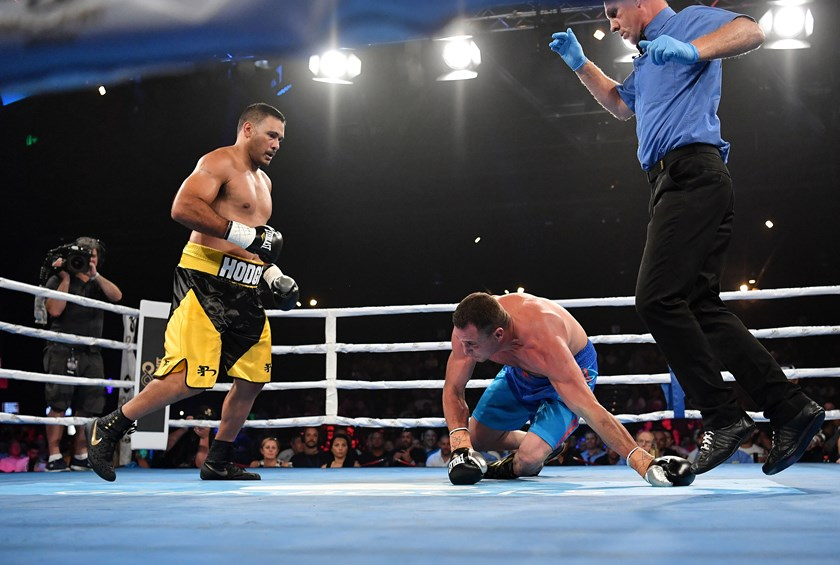 Justin Hodges has a win in his first fight. Photos: Grant Trouville