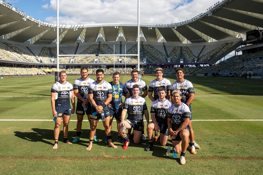 Members of the North Queensland Cowboys squad took part in a scrimmage match earlier this season. Photo: North Queensland Cowboys Media