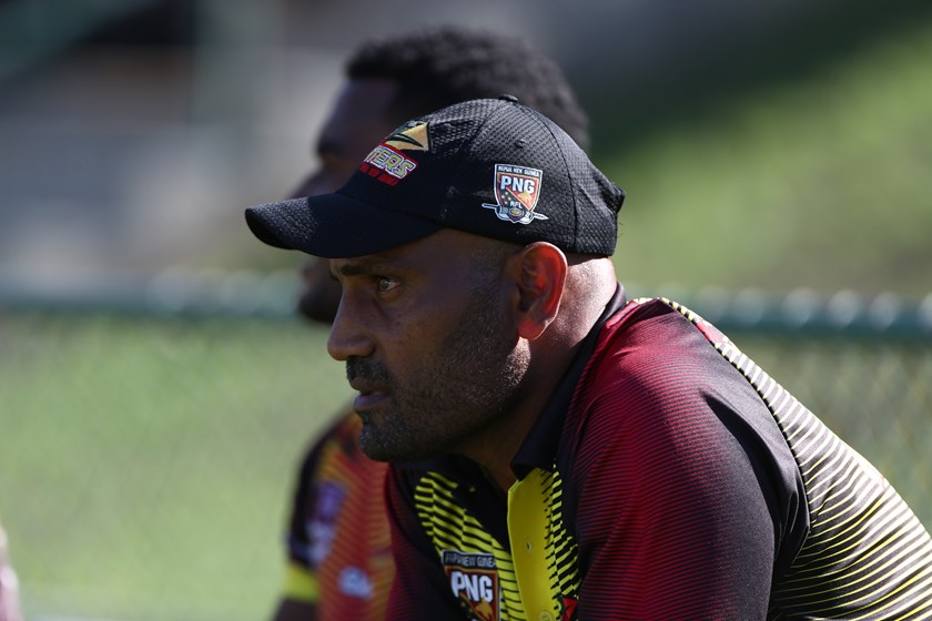 PNG Hunters coach Michael Marum. Photo: QRL Media