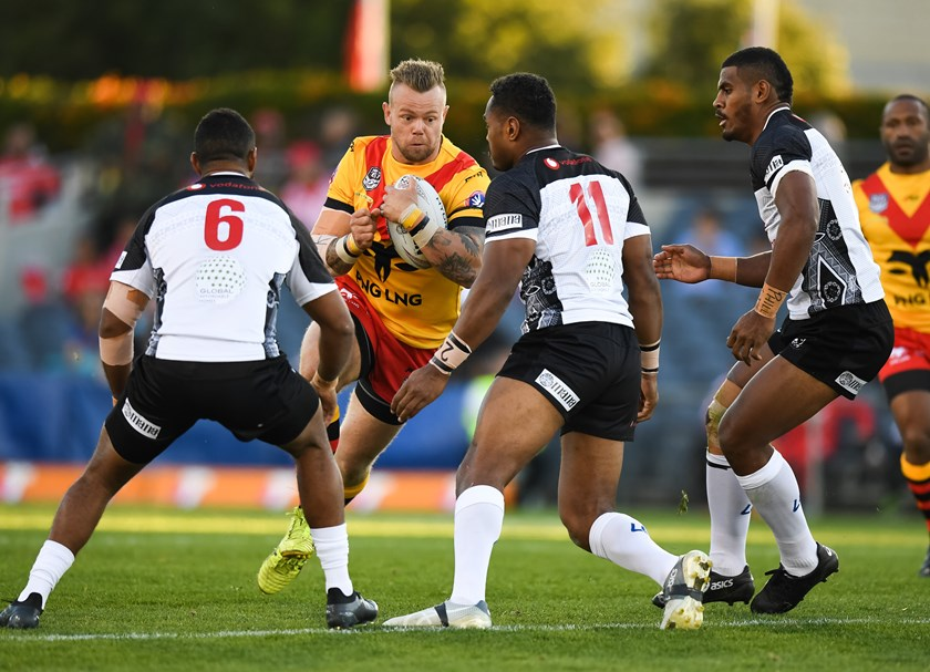 Luke Page in action for the PNG Kumuls in 2018. Photo: NRL Images