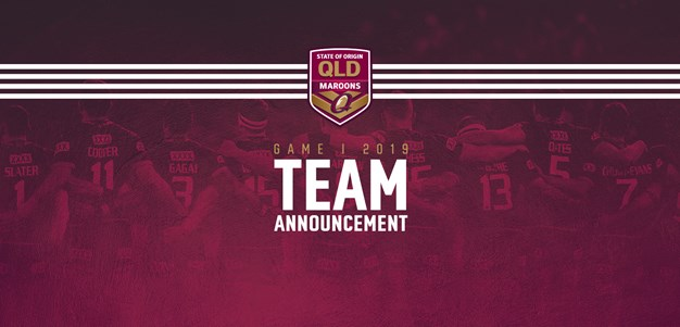 Queensland Maroons team for Origin opener