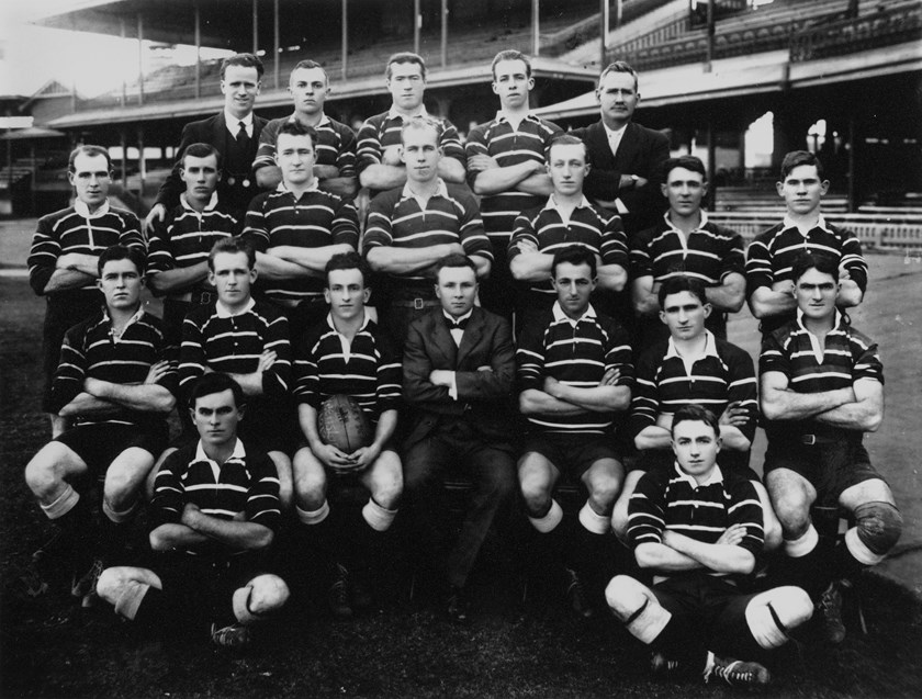 Duncan Thompson and the 1919 Queensland team.