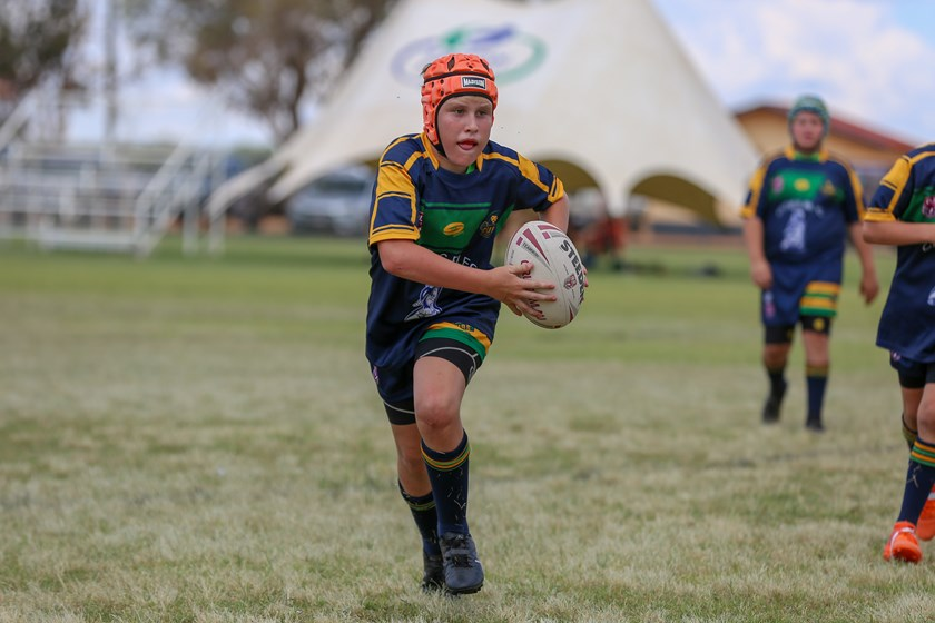 Roma Cities in action at the 2019 Adrian Vowles Cup. Photo: Mitch Wilson/QRL