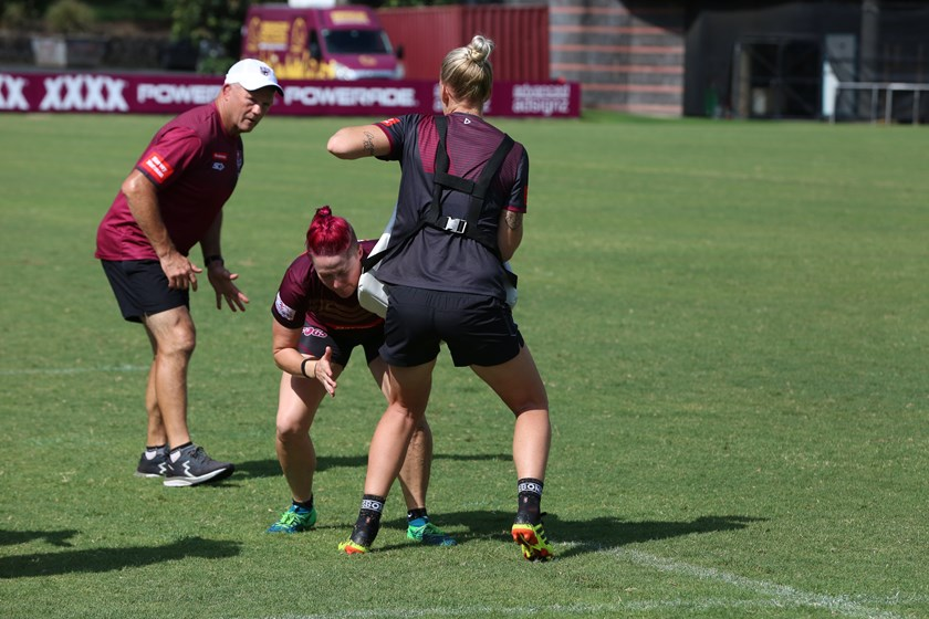 Gilly watching on at a Queensland training day last month. Photo: QRL Media