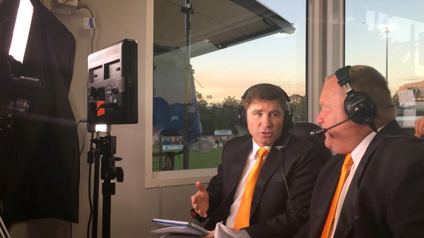 Commentating with Warren Boland on TigerTV