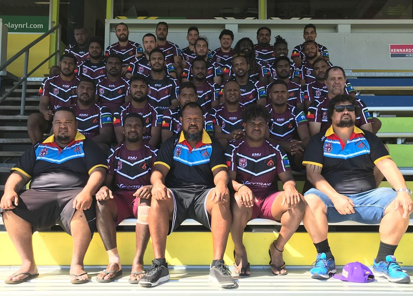 The 2019 North Queensland United Emerging squad which was named after the Remote Areas Rugby League Challenge played in Cairns