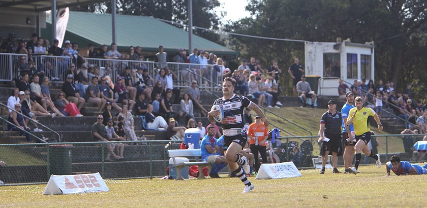 Talor Walters on his way to a Tweed Heads try. Photo: Tweed Heads Seagulls Media