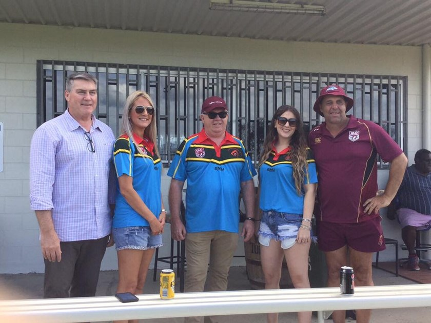VIPs Rob Moore - QRL Managing Director; Rebecca Hyde - Skytrans; Michael Thinee - CEO Skytrans; Sam Collings - Skytrans and Robbie Moore - QRL assistant Northern Regional Manager.