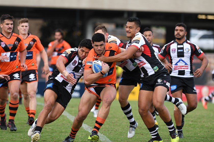 Sam Lavea of Easts Tigers is set to play in his 50th Cup game.