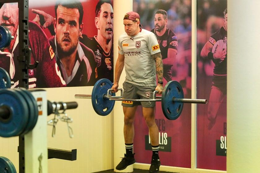 Mann in the gym. Photo: Jorja Brinums/QRL