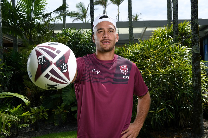 Corey Norman during the 2019 Queensland Emerging Origin camp. Photo: NRL Images