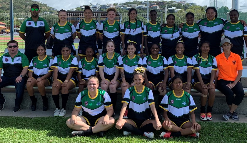 Sorren Owens with the Northern Outback women's team who played in the North Queensland Women's Championships held recently in Townsville