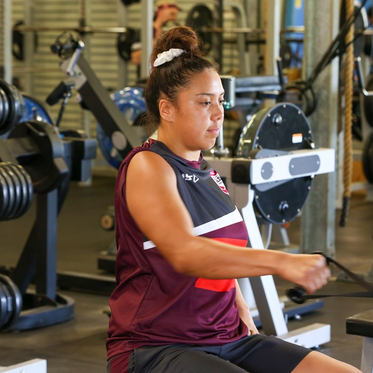 Mato almost misses her Maroons moment