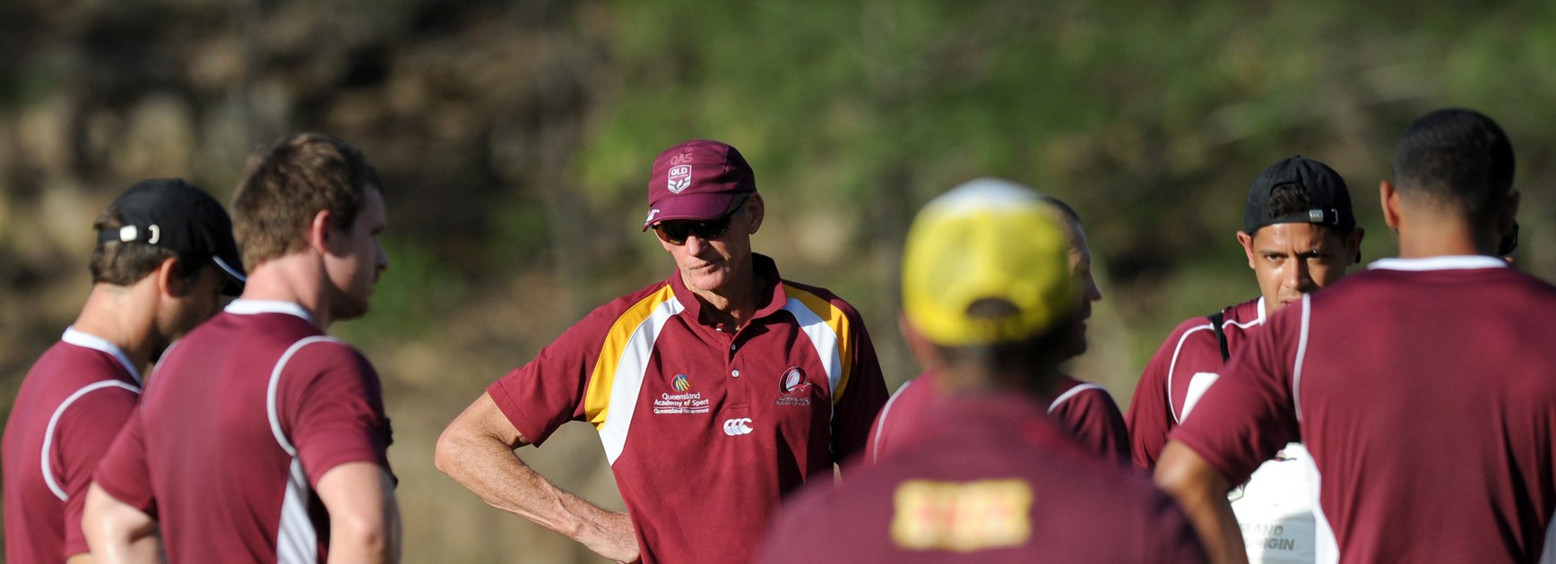 Wayne Bennett at a QAS session in 2015.