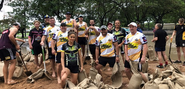 Centrals players pitch in for Townsville community