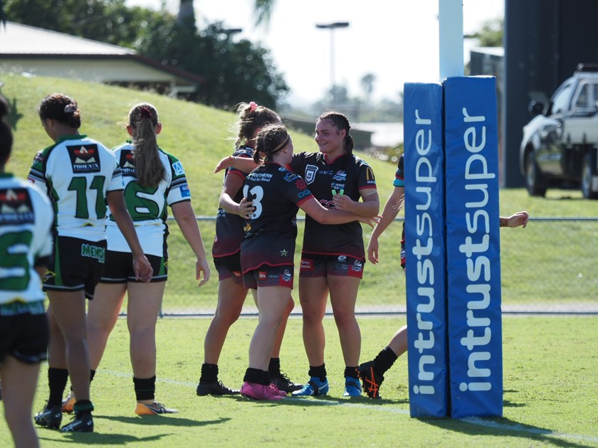 History was made when Mackay Cutters and Townsville Blackhawks played in the first Harvey Norman Under 19 match. All photos: Marty Strecker Photography