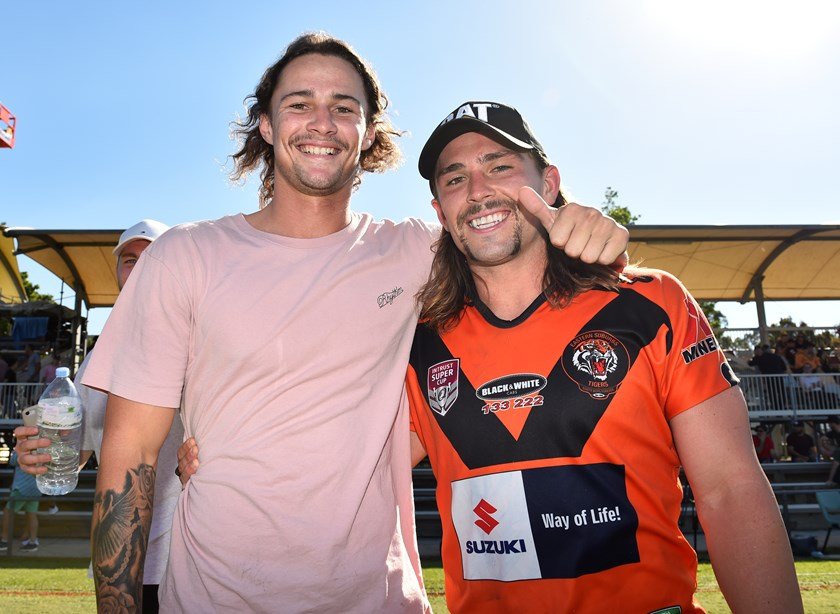 Nicho with Aaron Booth. Photo: QRL