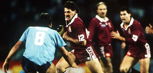 Maroons legend Gene Miles in the Origin arena