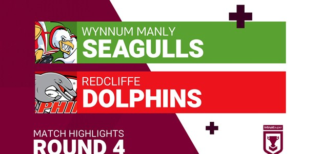 Round 4 highlights: Wynnum Manly v Redcliffe