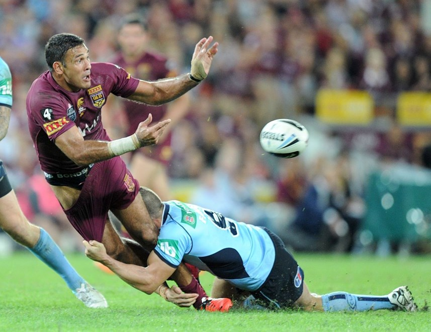 JUSTIN HODGES - (QLD MAROONS) - PHOTO SCOTT DAVIS - SMPIMAGES.COM - 28th MAY 2014 - QUEENSLAND V NEW SOUTH WALES. (SMP Images).