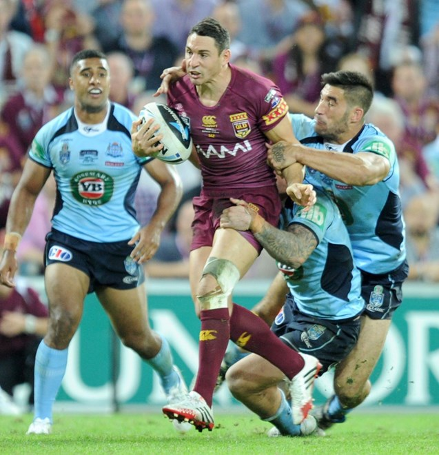 BILLY SLATER - (QLD MAROONS) - PHOTO SCOTT DAVIS - SMPIMAGES.COM - 28th MAY 2014 - QUEENSLAND V NEW SOUTH WALES. (SMP Images).