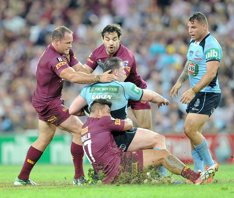 Aidan Guerra was impressive in his State of Origin debut for Queensland. (SMP Images).