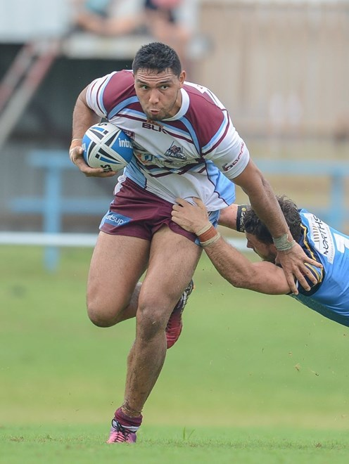 Curtis Rona - QRL Intrust Super Cup - Norths Devils V Mackay Cutters at Bishop Park, Nundah. 2pm Sunday March 30, 2014.