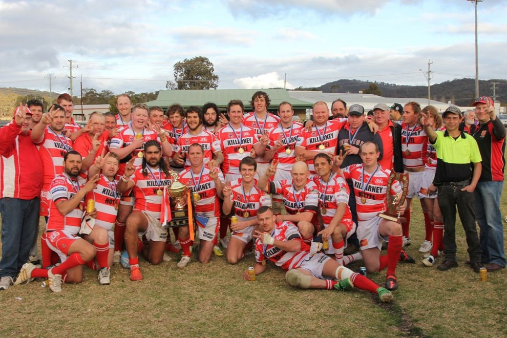 The Killarney Cutters after a grand final victory on Saturday. Photo John Towells / Warwick Daily News
