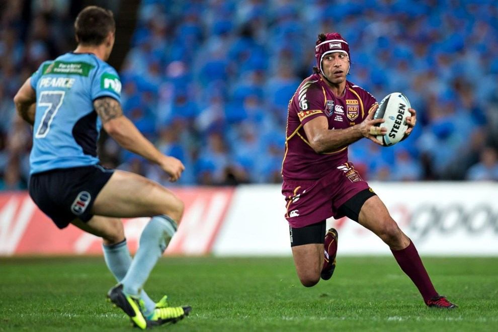 NRL: Johnathan Thurston during game three of the State of Origin between the NSW Blues and the Queensland Maroons. Played at ANZ Stadium, Sydney, Australia, Wednesday, 17 Jul 2013. Photo: Murray Wilkinson (SMP Images).