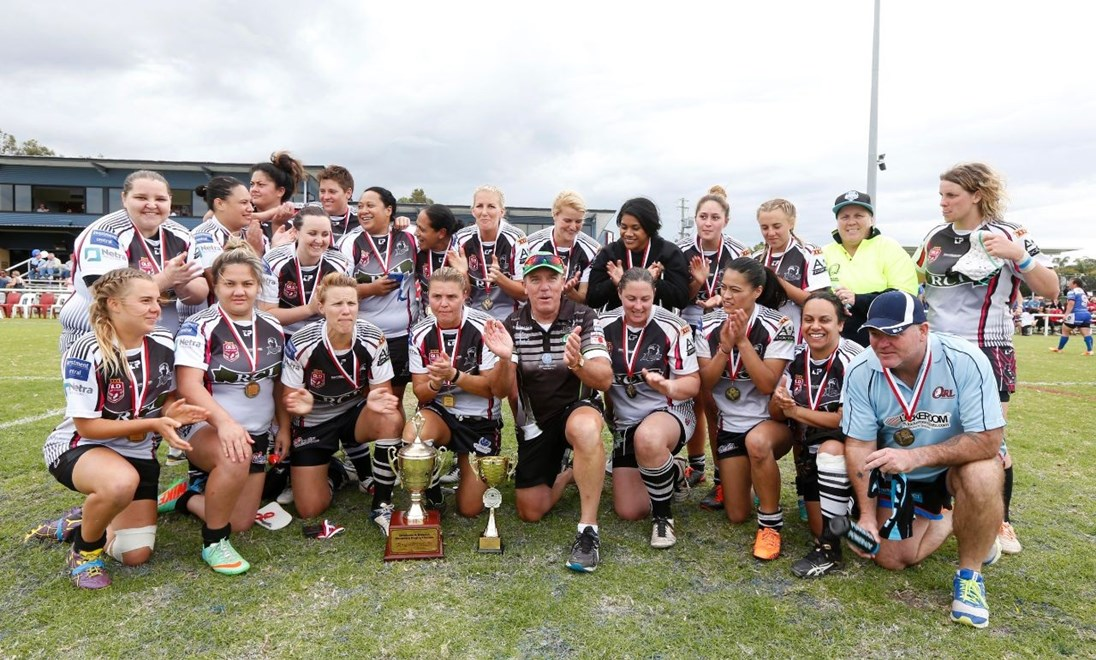 The Souths Logan Women defeated the Beerwah Bulldogs 26-12 in the 2014 Div 1 Brisbane and District Women's Rugby League grand final. PHOTO: CHARLES KNIGHT SMP IMAGES