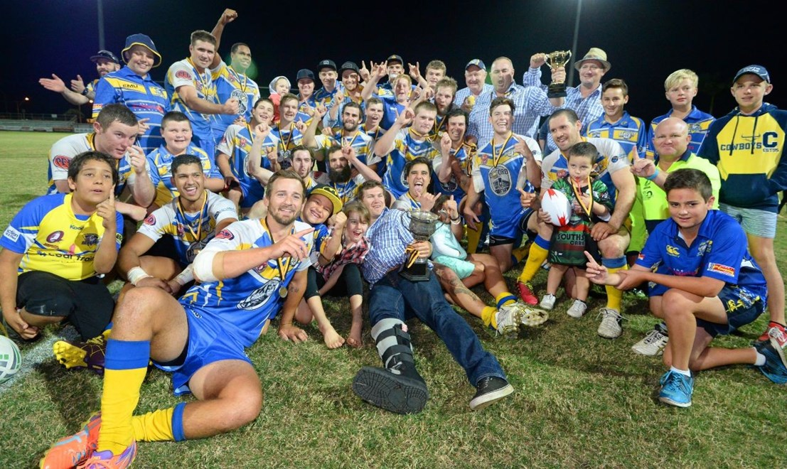 Yeppoon Seagulls celebrate winning the A Grade Rugby League Grand Final at Browne Park on Saturday 13 Sept 14.   Photo: Chris Ison / The Morning Bulletin