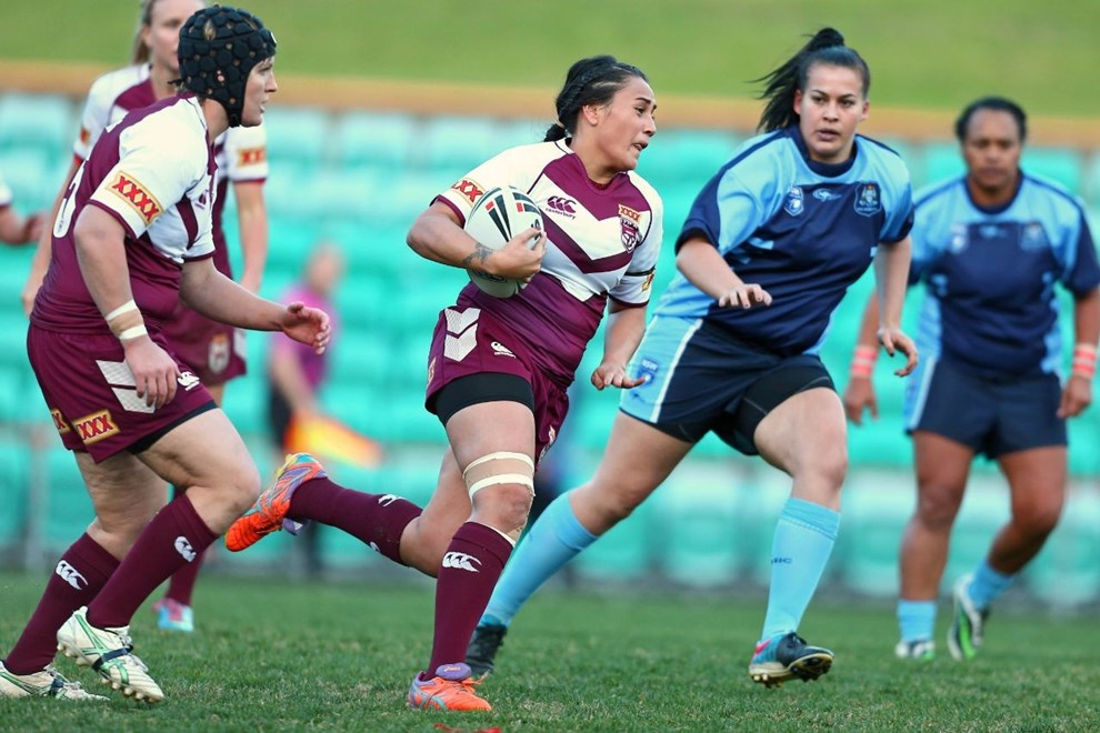 Beerwah's Annette Brander was one of eight players on debut for Queensland. You can still watch a replay of the live stream via: http://www.qrl.com.au/interactive/live-stream.html. Photo: John Bonanno Rugby League Review