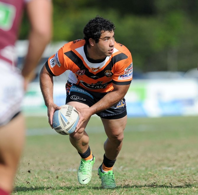 Joel Romelo - Intrust Super Cup Round 25 - Burleigh Bears V Easts Tigers at Pizzey Park, Burleigh Heads. 2.00pm Sunday August 24, 2014. PHOTO: Scott Davis - SMP IMAGES