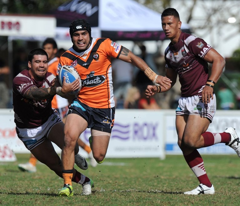Tommy Butterfield - Intrust Super Cup Round 25 - Burleigh Bears V Easts Tigers at Pizzey Park, Burleigh Heads. 2.00pm Sunday August 24, 2014. PHOTO: Scott Davis - SMP IMAGES