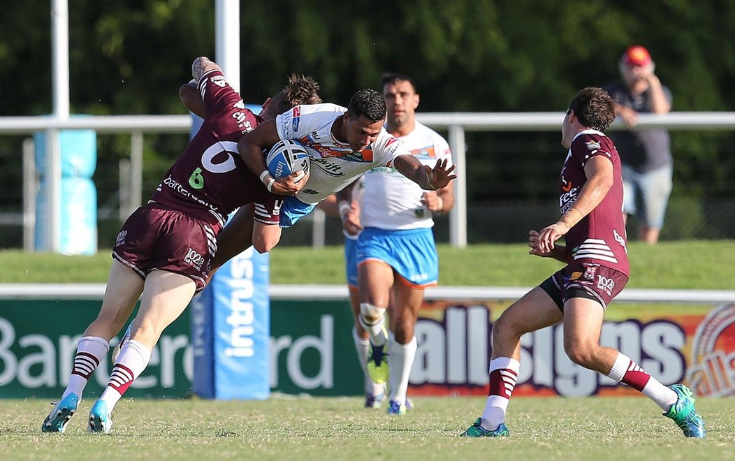 LINC PORT (PRIDE) - BURLEIGH BEARS v NORTHERN PRIDE - QUEENSLAND RUGBY LEAGUE INTRUST SUPER CUP. 28th March 2015, Action from round 4 of the 2015 Intrust Super Cup rugby league clash played at Pizzy Park Miami, between the Burleigh Bears v Northern Pride. Photo: SMP Images / QRL Media