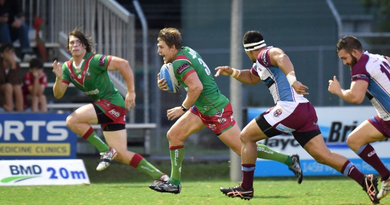 Matthew Grieve - Intrust Super Cup Round 3 - Wynnum Manly Seagulls V Mackay Cutters at BMD Kougari Oval, Manly West. 5.00pm Saturday March 21, 2015.  PHOTO: Scott Davis - SMP IMAGES.COM