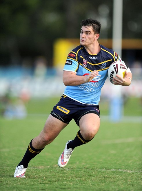 LACHLAN LANSKEY - NORTHS DEVILS -  PHOTO: SCOTT DAVIS - SMPIMAGES.COM - NORTHS v SOUTHS LOGAN, MAL MENINGA CUP, 28TH FEBRUARY 2015 - Action from Round 1 of the MAL Meninga Cup, between the Norths Devils and the Souths Logan Magpies, being played at  Bishop Park, Brisbane. This image is for Editorial Use Only. Any further use or individual sale of the image must be cleared by application to the Manager Sports Media Publishing (SMP Images). PHOTO : Scott Davis SMP IMAGES