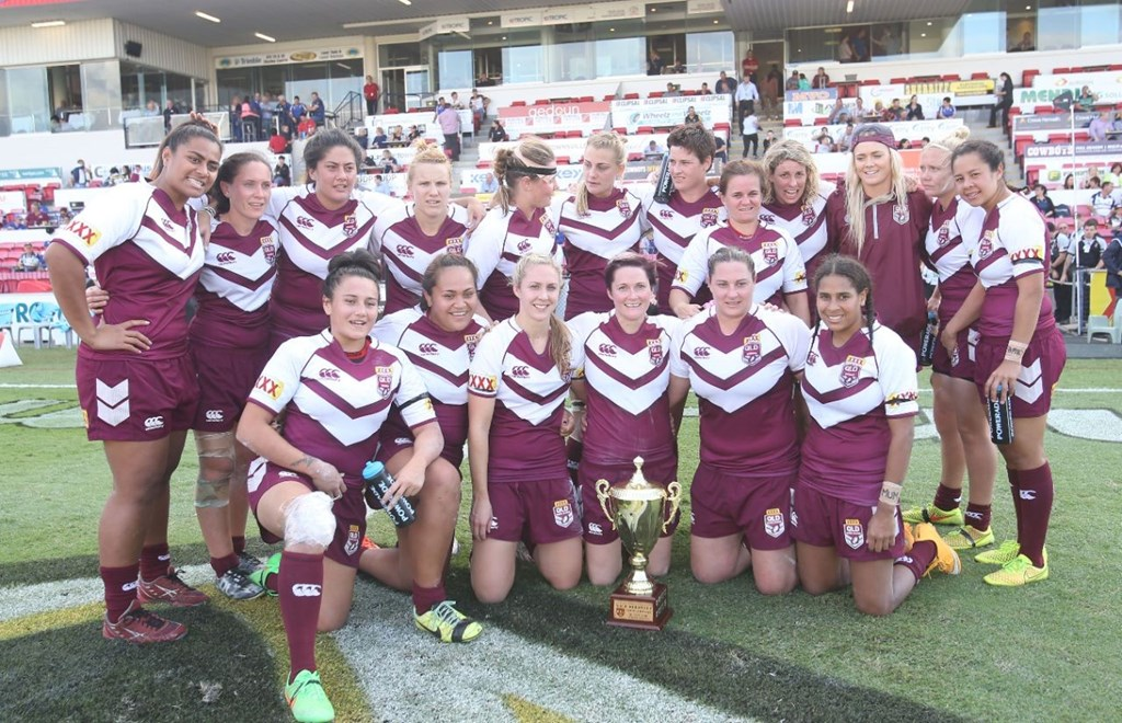 Match was drawn but meant Qld retained the trophy: 	Women's Rugby League, Interstate Challenge, NSW v Qld, at Townsville, Saturday June 27 2015. Digital Image by Colin Whelan © nrlphotos.com