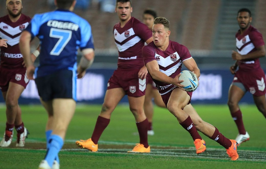 QUEENSLAND UNDER 18'S ( QUEENSLAND MAROONS ) - PHOTO SMP IMAGES / QRL MEDIA - 17TH JUNE 2015, Action from the State of Origin Under 18 clash of the 2015 National Rugby League (NRL) State of Origin clash between New South Wales (NSW) v Queensland (QLD) played in Melbourne at the Melbourne Cricket Ground (MCG).
