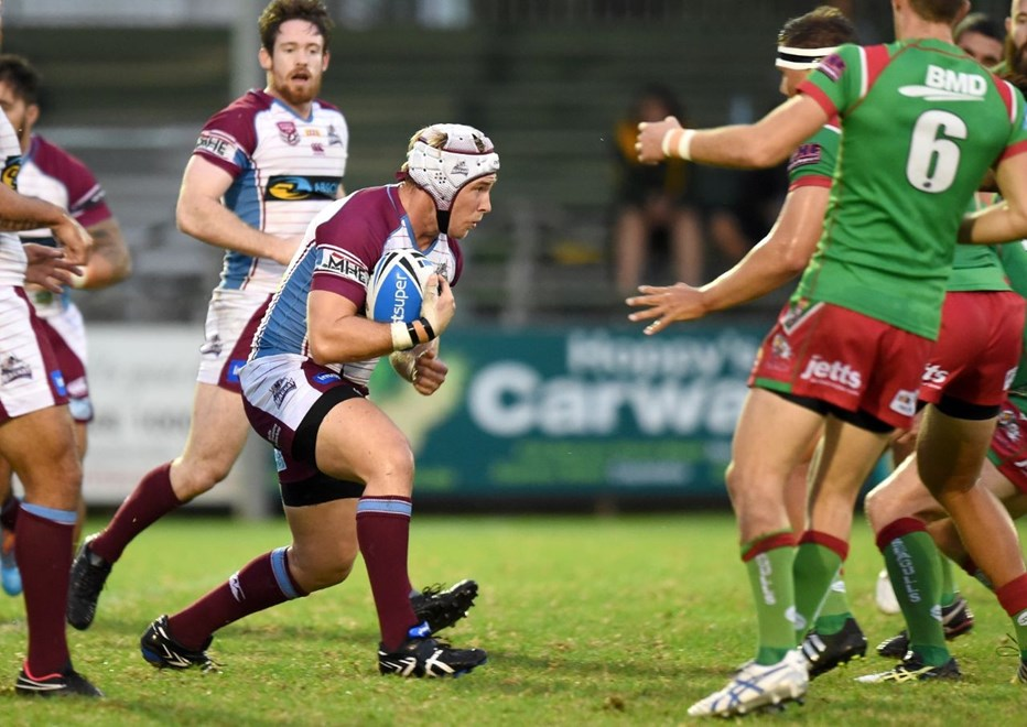 Chris Gesch - Intrust Super Cup Round 3 - Wynnum Manly Seagulls V Mackay Cutters at BMD Kougari Oval, Manly West. 5.00pm Saturday March 21, 2015.  PHOTO: Scott Davis - SMP IMAGES.COM