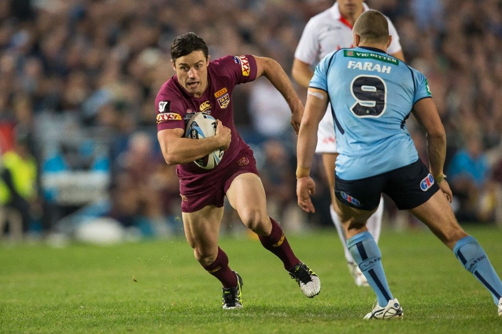 COOPER CRONK - STATE of ORIGIN, GAME 1. NSW BLUES v QLD MAROONS. Played at ANZ Stadium, Sydney, Australia, Wednesday, 27 May 2015. Photo: Murray Wilkinson (SMP Images).