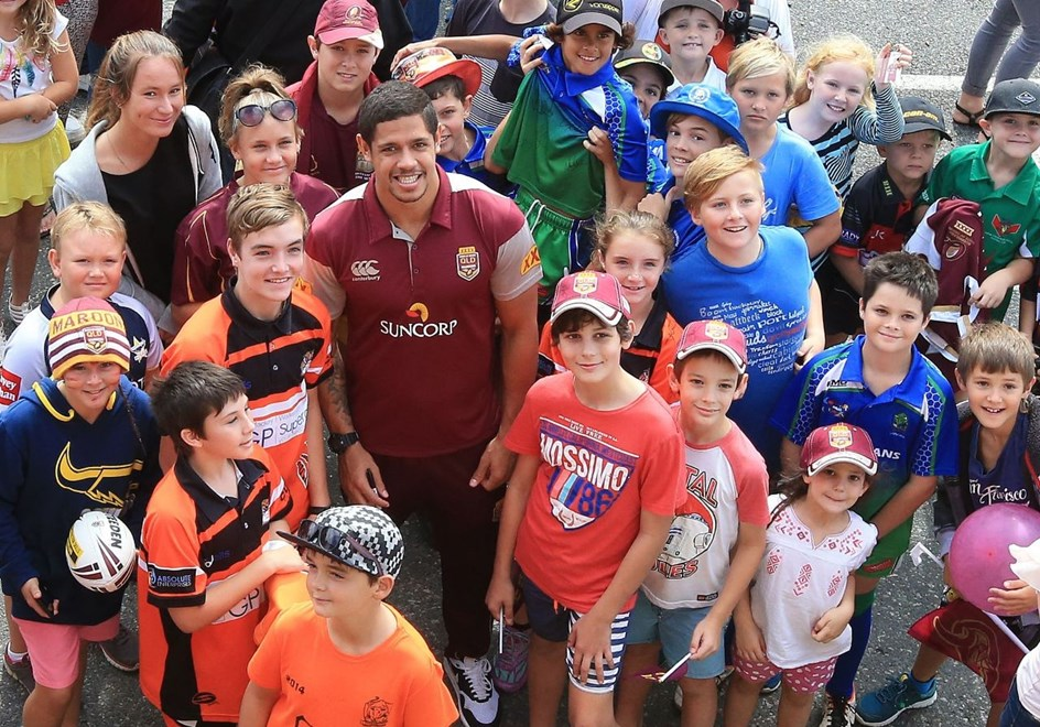 DANE GAGAI - QUEENSLAND STATE OF ORIGIN TEAM - PHOTO SMP IMAGES / QRL MEDIA - 30th June 2015 - The Queensland Rugby League Team visit Proserpine in North Queensland for a fan day prior to their Game 3 decider against the NSW Blues to be played at Suncorp Stadium, Brisbane.Photo: SMP IMAGES / QRL MEDIA