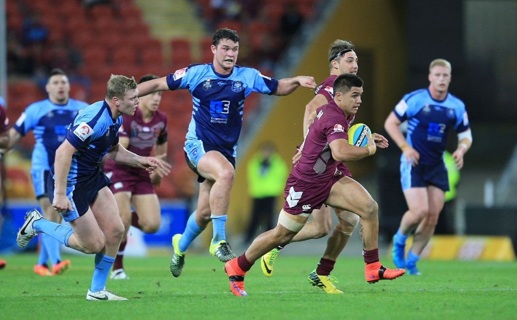 QUEENSLAND UNDER 20'S - PHOTO: SMP IMAGES/QRL MEDIA - 8th July 2015 - Action from Under 20's 2015 National Rugby League (NRL)  State of Origin clash between the Queensland Maroons v NSW Blues, played at Suncorp Stadium, Brisbane, Australia.
